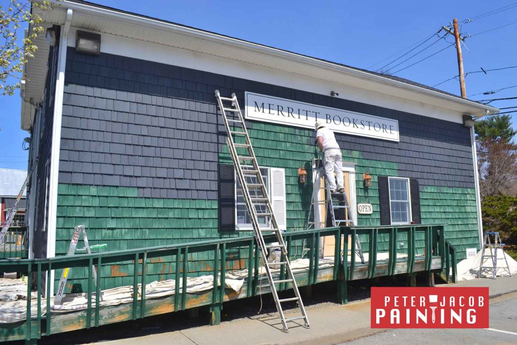 exterior painting merrit bookstore in Millbrook NY