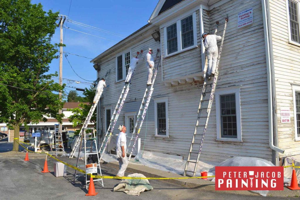 employees safely removing lead paint in the village of Millbrook New York